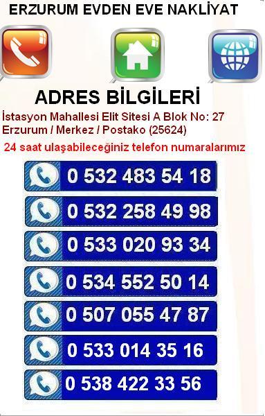 Erzurum Nakliyat İletişim Bilgileri